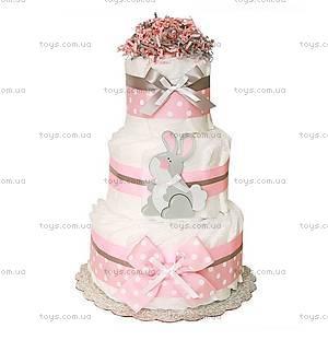 Торт из подгузников для девочки Bunny, BH10