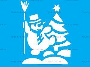 Трафарет «Рождественское окошко», НОТ-001, фото