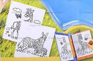 Трафарет с карандашами «Дикие животные», 84517B, купить