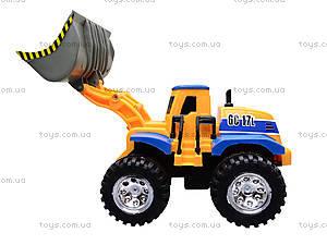 Детский трактор с ковшом, 086A, купить