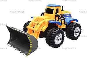 Детский трактор с ковшом, 086A, детские игрушки
