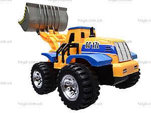 Детский трактор с ковшом, 086A, магазин игрушек