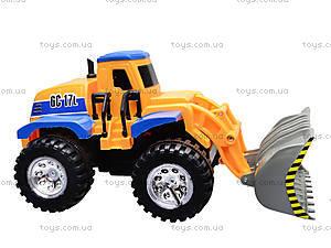 Детский трактор с ковшом, 086A, toys.com.ua