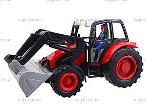 Игровой инерционный трактор для детей, 27002-456, фото
