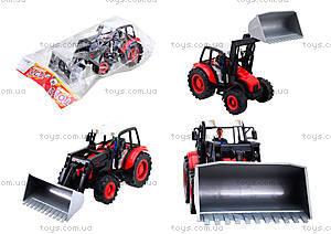 Игровой инерционный трактор для детей, 27002-456