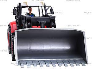Игровой инерционный трактор для детей, 27002-456, игрушки