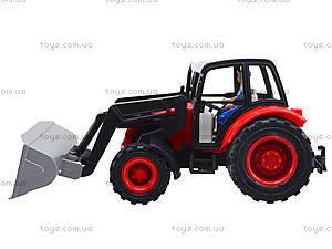 Игровой инерционный трактор для детей, 27002-456, детские игрушки