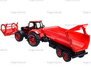 Игрушечный трактор с прицепом «Ферма», 3369-28, купить