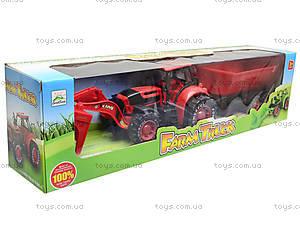Игрушечный трактор с прицепом «Ферма», 3369-28, фото