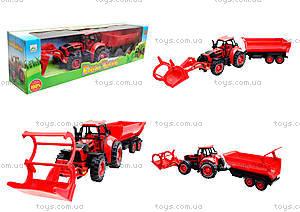 Игрушечный трактор с прицепом «Ферма», 3369-28