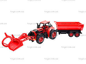 Игрушечный трактор с прицепом «Ферма», 3369-28, цена