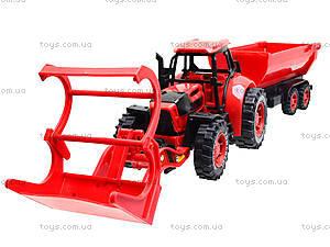 Игрушечный трактор с прицепом «Ферма», 3369-28, детские игрушки