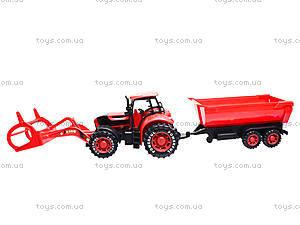 Игрушечный трактор с прицепом «Ферма», 3369-28, магазин игрушек