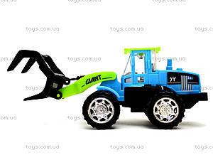 Игрушечный трактор с клещами, 635, детские игрушки