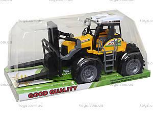 Инерционный пластиковый трактор, 666-73A, игрушки