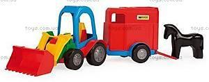 Трактор Багги с ковшом и прицепом, 39229