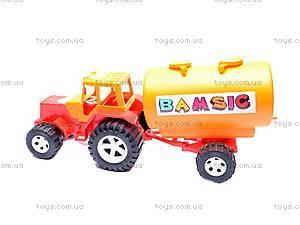 Трактор «Бамсик», с бочкой, 0073, фото
