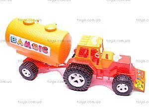Трактор «Бамсик», с бочкой, 0073