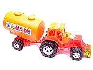Трактор «Бамсик», с бочкой, 0073, отзывы