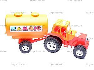 Трактор «Бамсик», с бочкой, 0073, цена