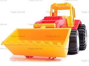 Трактор «Бамсик» с ковшом, 0071, игрушки
