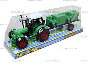Игрушечный трактор с прицепом «Фермер», 618-5