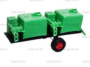 Игрушечный трактор с прицепом «Фермер», 618-5, фото