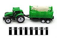 Трактор «Фермер» с прицепом и овечкой, 9975-2, фото