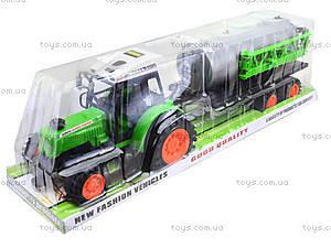 Инерционный трактор «Фермер» для детей, 666-56A, фото