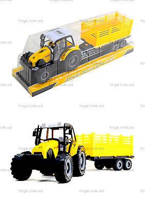 Инерционный трактор с прицепом «Фермер», 591-2