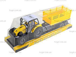 Инерционный трактор с прицепом «Фермер», 591-2, цена