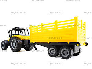 Инерционный трактор с прицепом «Фермер», 591-2, игрушки