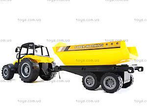Инерционный трактор «Фермер» с прицепом, 591-3, фото
