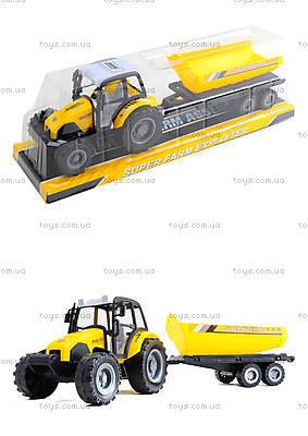 Инерционный трактор «Фермер» с прицепом, 591-3