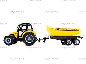Инерционный трактор «Фермер» с прицепом, 591-3, отзывы