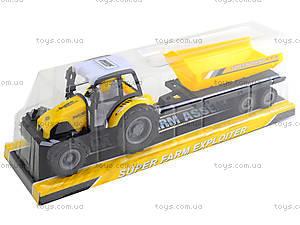 Инерционный трактор «Фермер» с прицепом, 591-3, цена