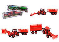 Трактор инерционный, игрушка, 8338-82, купить