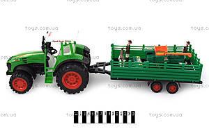Трактор «Фермер» инерционный с прицепом, 0488-100