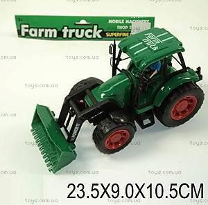 Трактор игрушечный, инерционный, L590-1