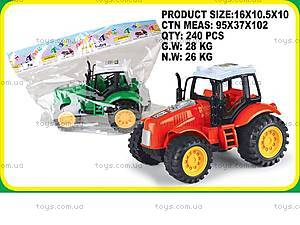 Трактор игрушечный инерционный, ABC-A, купить