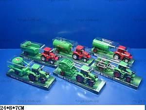 Игрушка детская «Трактор с прицепом», 4018-40