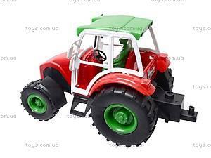 Трактор инерционный, игрушечный, 168-4, цена