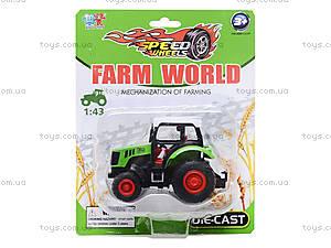 Игрушечный металличесский трактор, XY026, купить