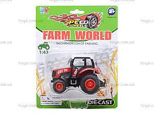 Игрушечный металличесский трактор, XY026, фото