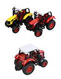 Игрушечный трактор металлический, XY048, фото