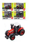 Трактор игрушечный металлический цвета в ассортименте , SQ82001-1, купить