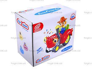 Игрушечный трактор с световым эффектом, HD936, детские игрушки
