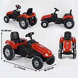 Веломобиль Трактор педальный (клаксон на руле, сидение регулируемое) красный, 07-321RED, toys.com.ua