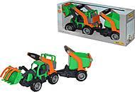 Трактор-погрузчик с полуприцепом, 37411