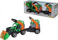 Трактор-погрузчик с полуприцепом для животных, 37398